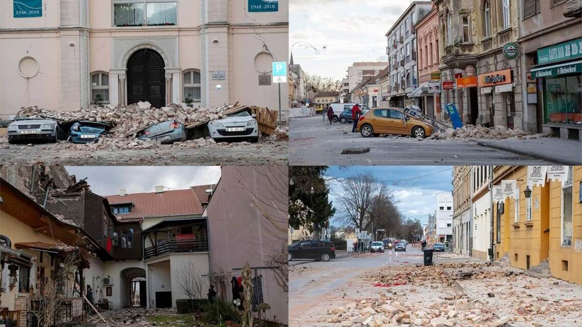 A devastating earthquake in beautiful Croatia