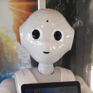 ロボットが接客することで話題となった長崎県ハウステンボスの「変なホテル」は、業務の効率化により、開業当初30人いたスタッフは2年後に5人に