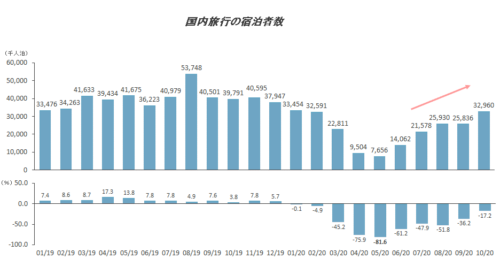 2020 / 21年の年末年始の国内旅行推計